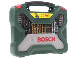 Набор сверл и насадок-бит Bosch TITANIUM Plus X-Line 70
