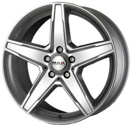 Автомобильный диск Литой MAK Stern 7x16 5/112 ET 45 DIA 66,6 Silver