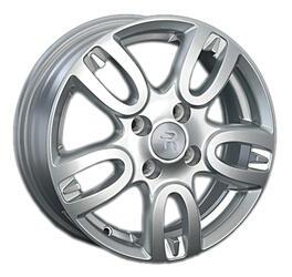 Автомобильный диск литой Replay KI100 6x15 4/100 ET 48 DIA 54,1 Sil