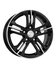 Автомобильный диск Литой K&K Trinity 6x15 5/112 ET 45 DIA 66,6 Алмаз черный