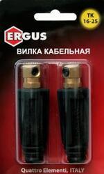 Кабельный разъем ERGUS вилка сварочного кабеля ТК 10-25 ( до 200 А)  2 шт в блистере