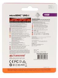 Карта памяти Transcend Premium microSDHC 16 Гб
