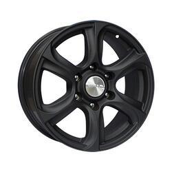 Автомобильный диск литой Скад Скала 7,5x17 6/108 ET 39 DIA 66,6 Черный матовый