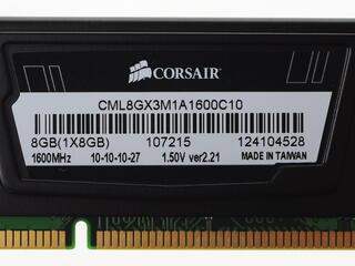 Оперативная память Corsair Vengeance [CML8GX3M1A1600C10] 8 ГБ