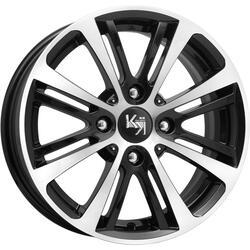 Автомобильный диск литой K&K Беринг 5,5x14 4/98 ET 35 DIA 58,5 Алмаз черный