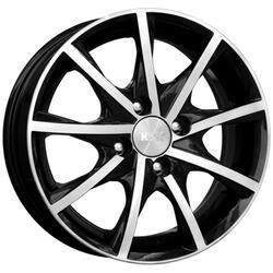 Автомобильный диск Литой K&K Алькор 5,5x14 4/98 ET 35 DIA 58,5 Алмаз черный