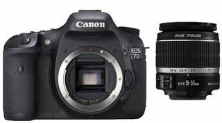 Зеркальная камера Canon EOS 7D Kit 18-55mm черный