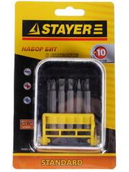 "Набор бит STAYER ""MASTER"" ""STANDARD"" 26085-H10"