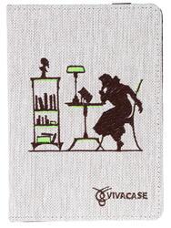 "6"" Чехол-книжка VIVACASE Silhouette VUC-CSL01-w белый"