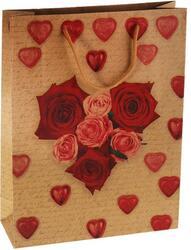 Пакет подарочный Сердце из роз
