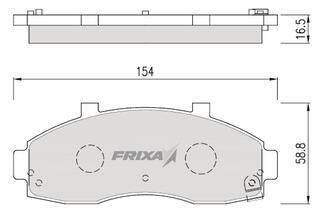 Тормозные колодки Hankook Frixa FPK10