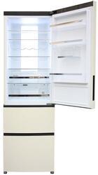 Холодильник с морозильником Haier A2FE635CCJ бежевый