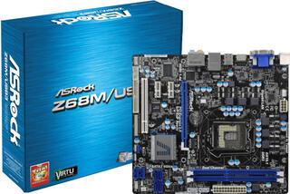 Плата ASRock LGA1155 Z68M/USB3 2xDDR3-2133 PCI-E HDMI/DSub/HDMI 8ch 2xSATA3 2xUSB3.0 mATX