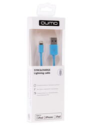 Кабель Qumo USB - MFI Lightning 8-pin синий