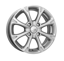 Автомобильный диск литой K&K Блюз 6x15 4/100 ET 39 DIA 56,6 Блэк платинум
