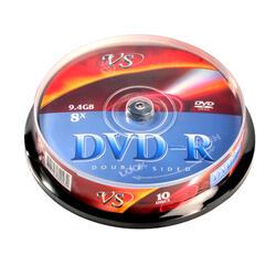 DVD+R 9.4Gb 8x Cake Box  10 шт. (VS) Double Sided