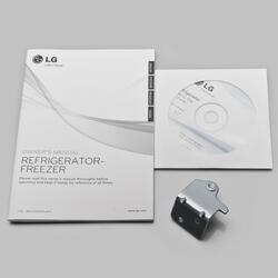 Холодильник с морозильником LG GW-F499BNKZ серый