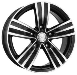Автомобильный диск  K&K да Винчи 7x16 5/112 ET 20 DIA 57,1 Алмаз черный
