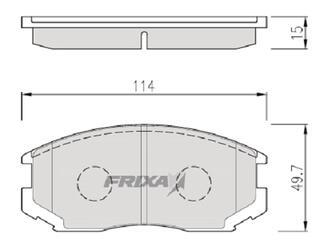 Тормозные колодки Hankook Frixa FPE041