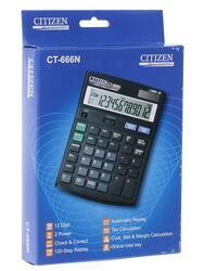 Калькулятор бухгалтерский Citizen CT-666