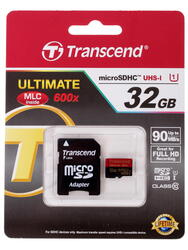 Карта памяти Transcend Ultimate microSDHC 32 Гб
