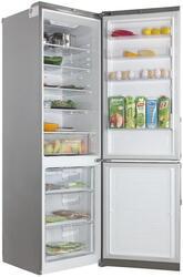 Холодильник с морозильником LG GA-B439YMCA серебристый