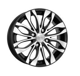Автомобильный диск литой K&K Канзаши 5,5x14 4/100 ET 38 DIA 67,1 Алмаз черный