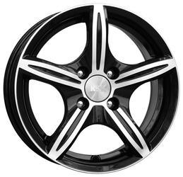 Автомобильный диск Литой K&K Мирель 6x14 4/100 ET 25 DIA 67,1 Алмаз черный