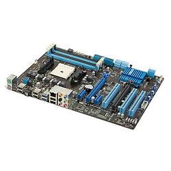 Плата ASUS Socket-FM1 F1A55 A55 4xDDR3-1866 2xPCI-E(16+4) 8ch 6xSATA RAID 2xUSB3 GLAN ATX
