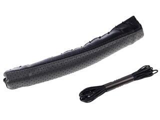 Оплетка на руль AUTOLAND 1501431-090 BK/GY черный