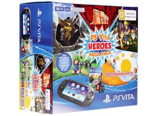 Портативная игровая консоль PlayStation Vita  + Heroes Mega Pack