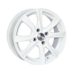 Автомобильный диск литой Скад Мальта 6x15 4/112 ET 38 DIA 57,1 белый