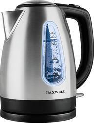 Электрочайник Maxwell MW-1019-01 черный, серебристый