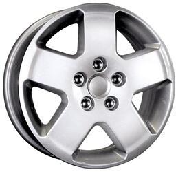 Автомобильный диск Литой K&K КС294 6x15 5/108 ET 52,5 DIA 63,4 Сильвер
