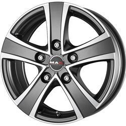 Автомобильный диск Литой MAK Van5 6,5x16 5/120 ET 45 DIA 65,1 Ice Titan