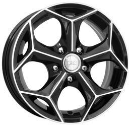 Автомобильный диск Литой K&K Кристалл 6x14 4/98 ET 38 DIA 58,6 Алмаз черный