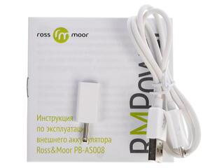 Портативный аккумулятор Ross&Moor PB-AS008 белый