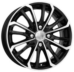 Автомобильный диск Литой K&K Римэкс 5,5x14 4/100 ET 45 DIA 56,1 Алмаз черный