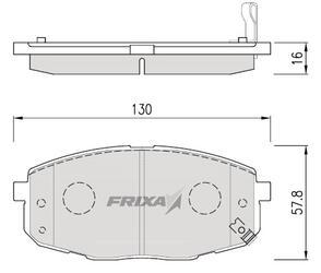 Тормозные колодки Hankook Frixa FPK14N