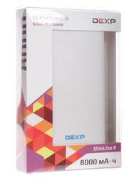 Портативный аккумулятор DEXP Slimline 8 белый