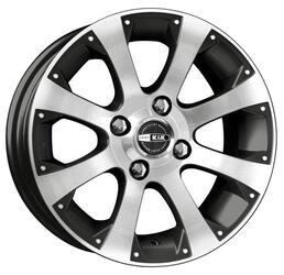 Автомобильный диск Литой K&K Аркада-Нова 5,5x13 4/114,3 ET 25 DIA 69,1 Алмаз черный