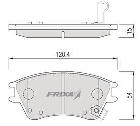 Тормозные колодки Hankook Frixa FPHXDF