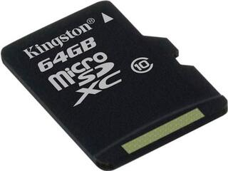 Карта памяти Kingston SDC10/64GBSP microSDXC 64 Гб