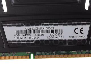 Оперативная память Corsair Vengeance [CMZ4GX3M1A1600C9] 4 ГБ