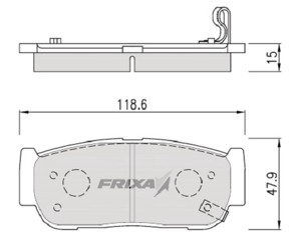 Тормозные колодки Hankook Frixa FPY05R