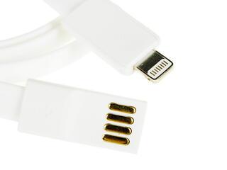 Кабель Qumo QF155 White Lightning 8-pin - USB белый