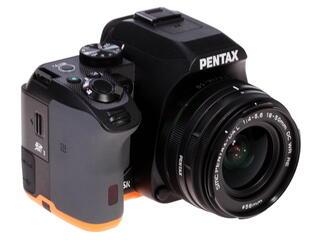 Зеркальная камера Pentax K-S2 kit DA 18-50mm DC WR черный, оранжевый