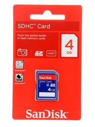 Карта памяти SanDisk SDHC 4 Гб