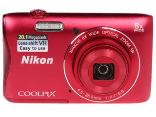 Компактная камера Nikon Coolpix S3700 красный