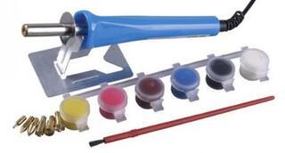 Прибор STAYER для выжигания с набором насадок 7шт и красками